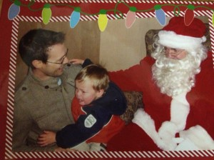 2006: Santa brings comfort and joy.